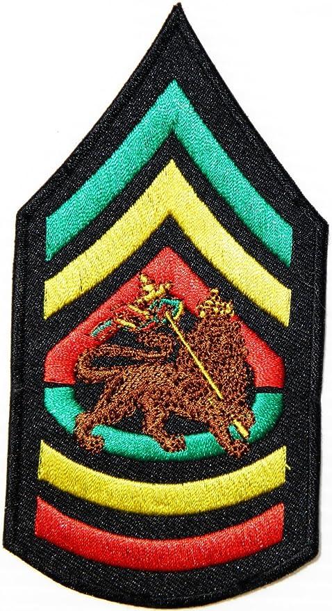 JAH sargento mayor del ejército León de judá chaqueta Rasta ...