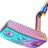 Golf Club Putter Men's Right Hand with Black Red HeadCovers PU Grip CNC Steel Mallet Professional