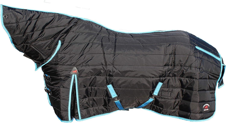 600 Denier Horse Coat Rug Winter Blanket Neck Black Turquoise 6904N