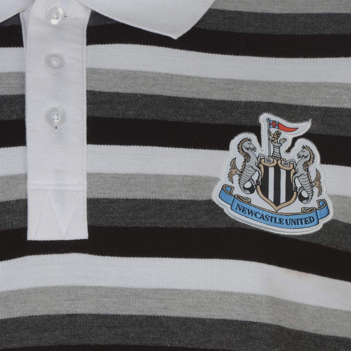 Newcastle United - Polo para Hombre, diseño de Rayas, Color Negro ...