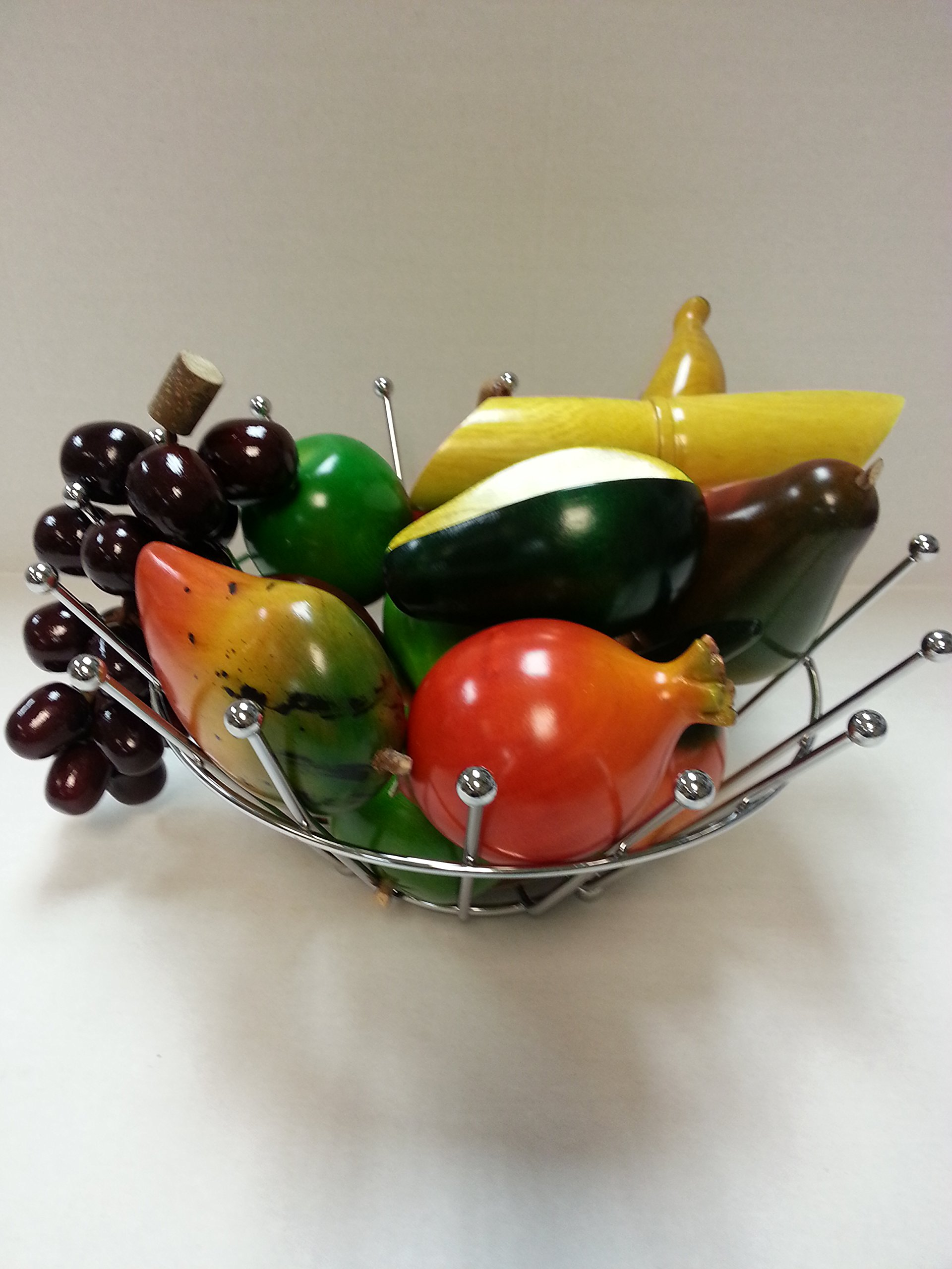 Set of 15 Hand Painted Wood Fruit Set by None (Image #2)