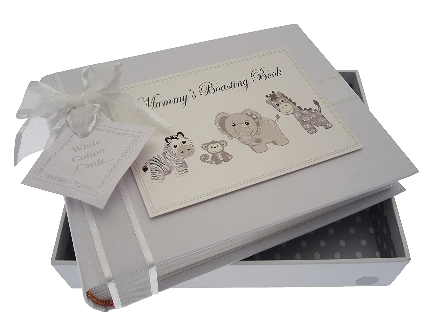 White Cotton Cards Silver Toys Mummy's Boasting Book Album (Small) TS6S