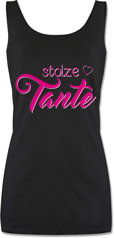Shirtracer Schwester /& Tante Tanktop f/ür Damen und Frauen Tops Stolze Tante
