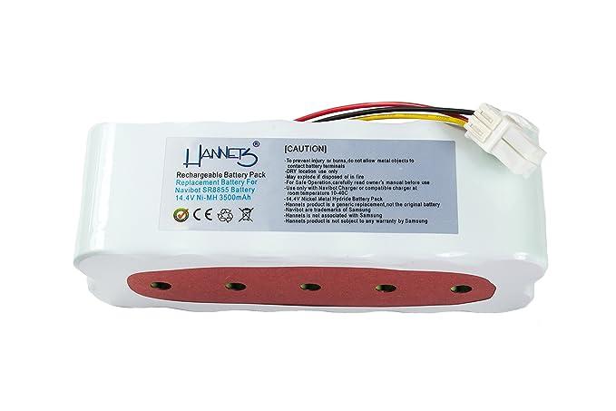 Hannets - Batería para Samsung Navibot SR8845, SR8855, SR8848, SR8895, SR8990, VCR8845, VCR8855, VCR8895: Amazon.es: Hogar