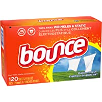 120-Count Bounce Fabric Softener Dryer Sheets for Static Control