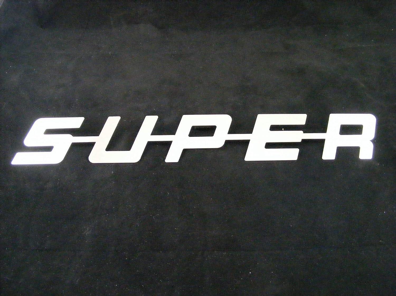 G/én/érique Super Avant Logo en Miroir en Acier Inoxydable Poli pour Toutes Les s/éries Camion Trucker Sign Cabine D/écoration Accessoires