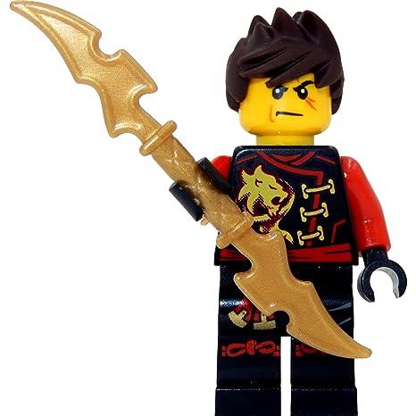 lego ninjago minifigurine kai skybound rouge ninja avec les cheveux bouriffs et deux - Ninjago Rouge
