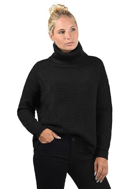 39ceaf680ec Vero Moda Rola Jersey De Cuello Alto Jersey De Punto Suéter Sudadera De  Punto para Mujer con Cuello Alto Doblado Oversized  Amazon.es  Ropa y  accesorios