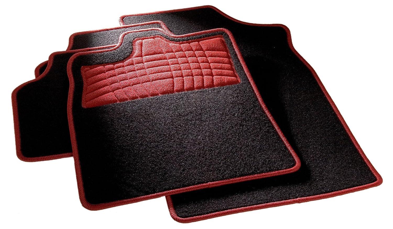 Auto Matte Adatto per Molti Tipi di Auto CarFashion 254577/Universale Set di tappetini Protezione Antiscivolo e kettelung in Rot Senza Matte Titolare
