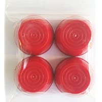 "Quadrapoint Hub Cap Replacement for Radio Flyer Steel & Wood Wagons 1/2"" Red (NOT for Plastic, Folding OR Little Wagon Model W5, Please Read Entire Product Description)"