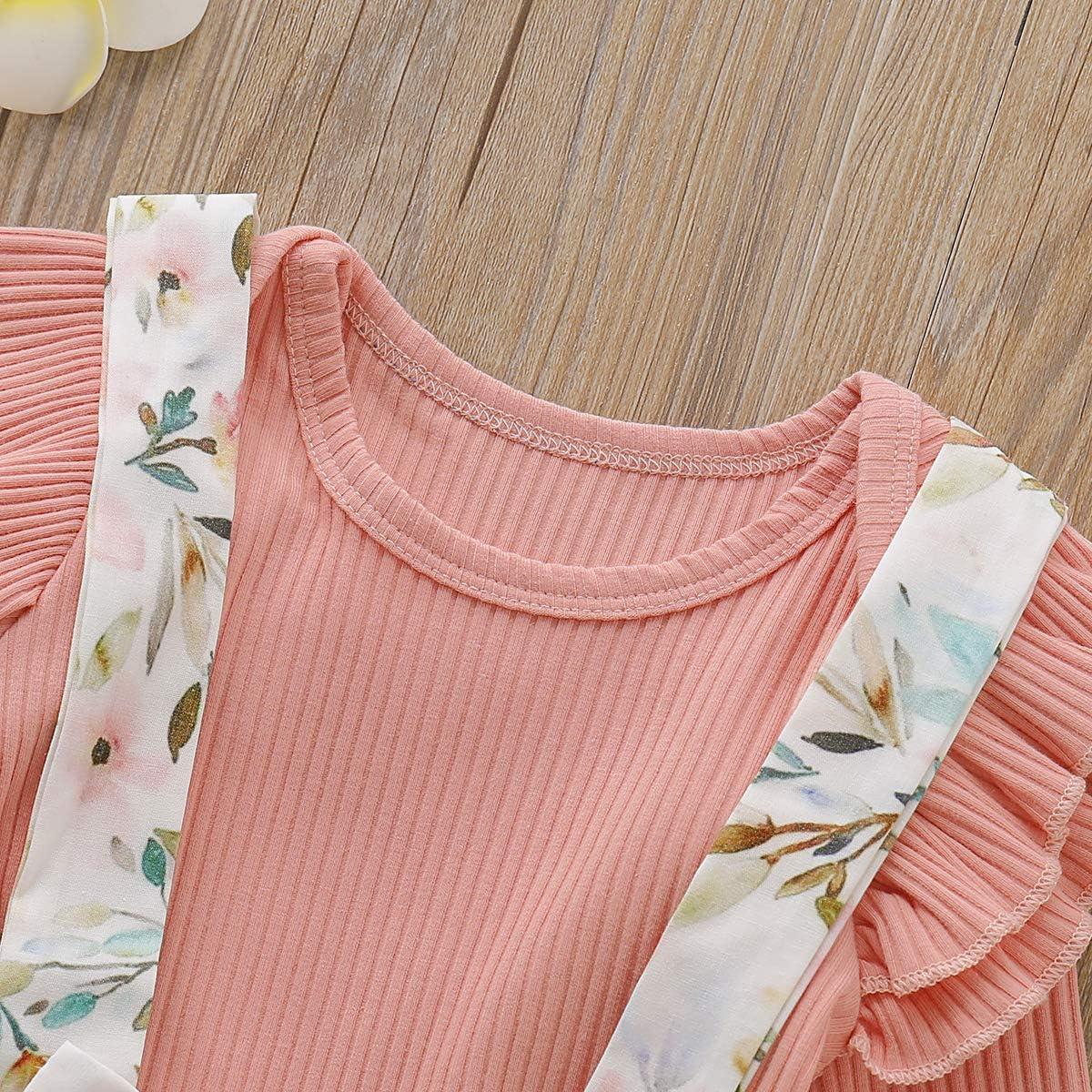 Xuefoo Vestito da neonata Neonato Neonato Neonato T-Shirt Ragazze Gonna Completi Set Abiti da Principessa Estate