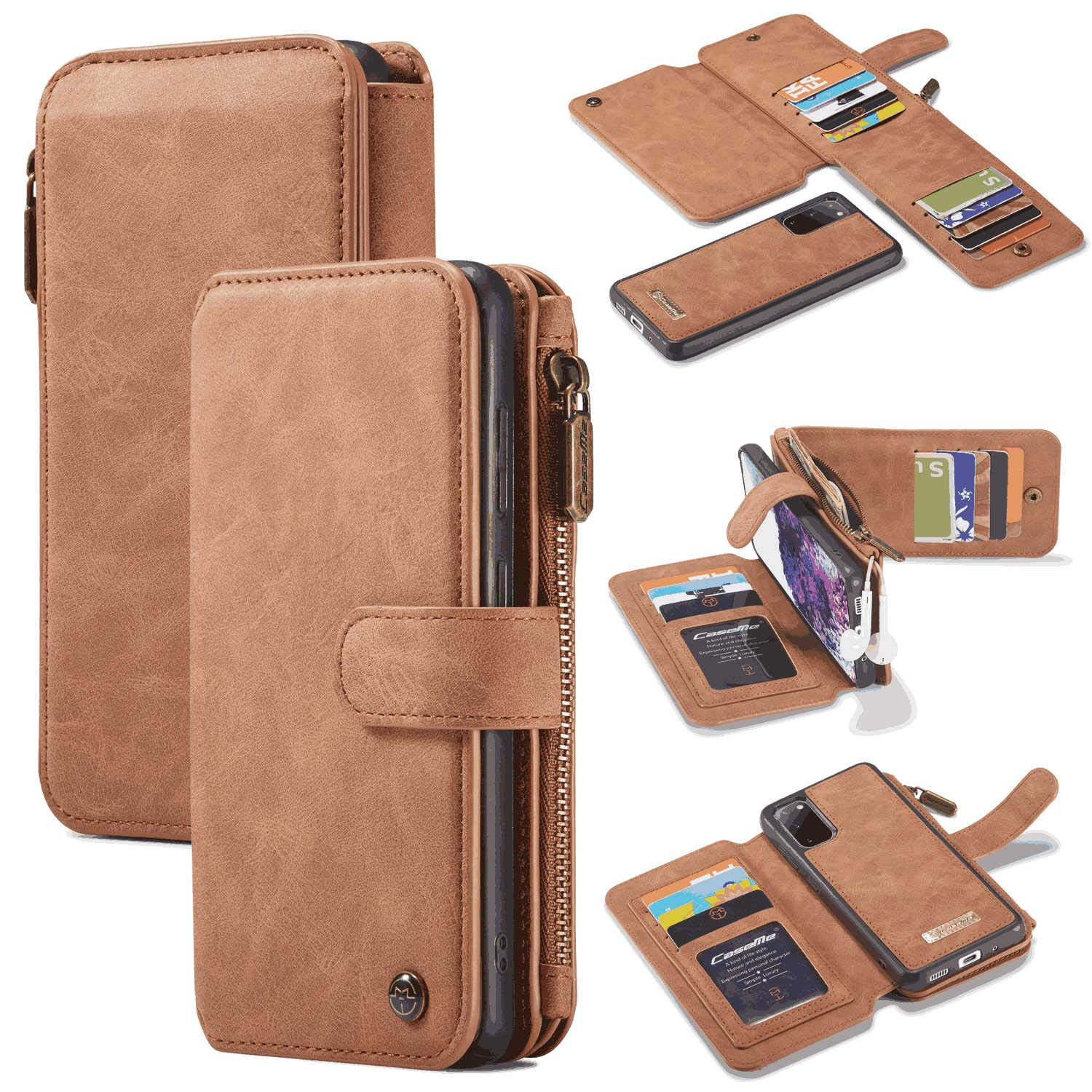 PU Leather Flip Cover Compatible with Samsung Galaxy S20 Ultra Elegant Detachable red Wallet Case for Samsung Galaxy S20 Ultra