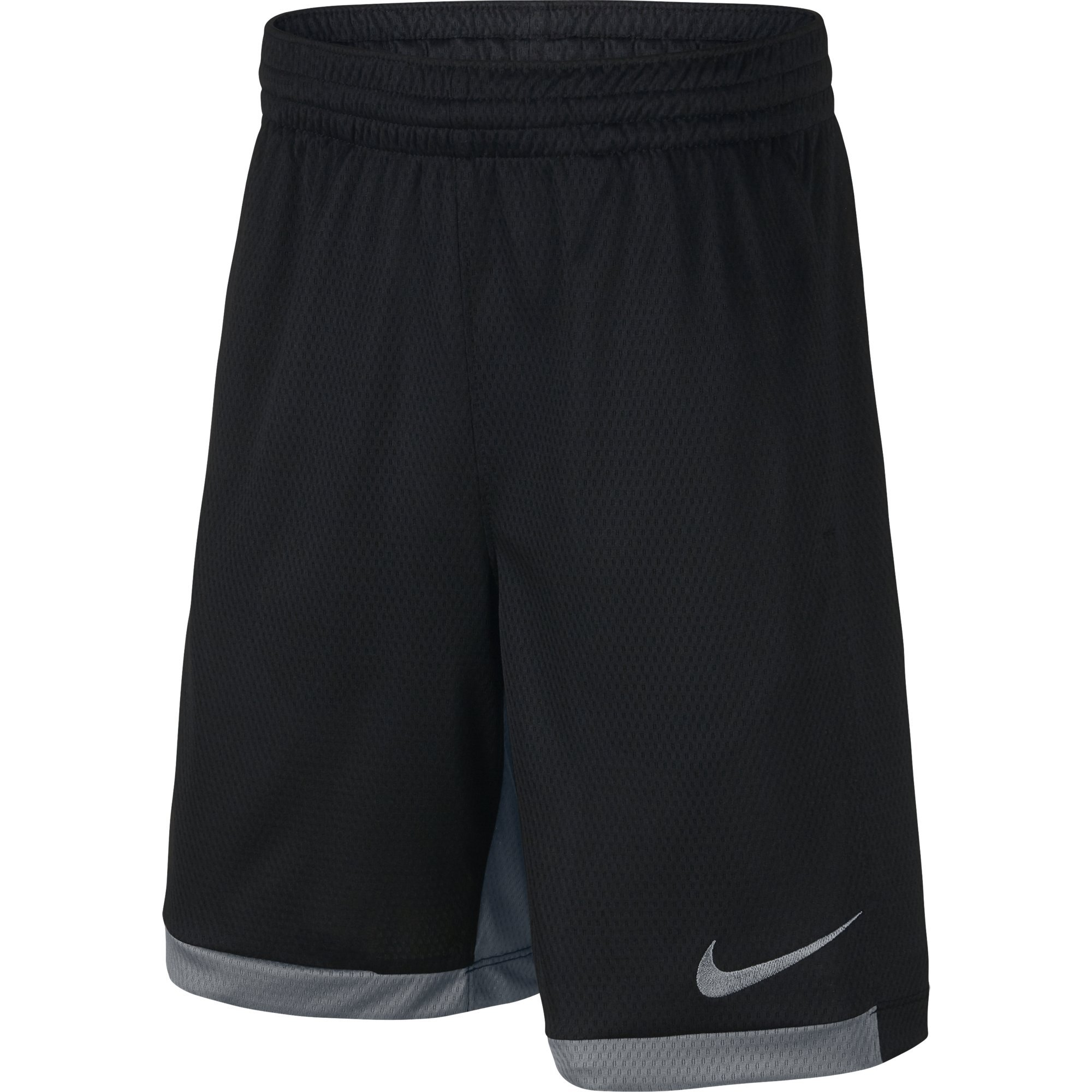 NIKE Boys' Dry Trophy Athletic Shorts, Black/Cool Grey/Cool Grey, X-Small