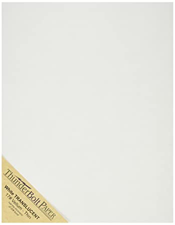 Amazon.com: 100 Soft Off-White Translucent 17# Thin Sheets - 8.5 ...