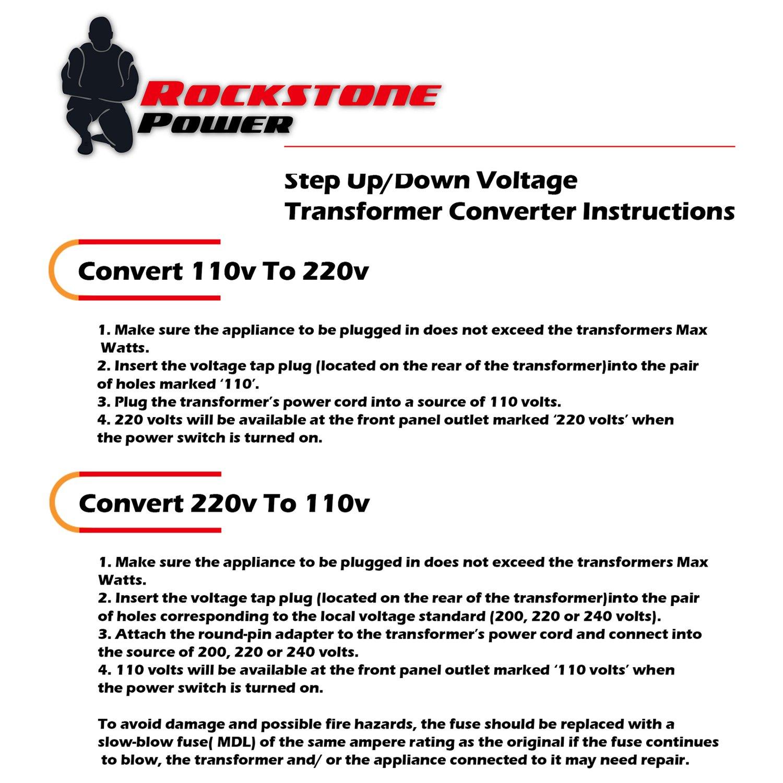 Rockstone Power 3000 Watt Heavy Duty Step Up Down Hobart Plug 230 Volt Male Plugpin Type 50 Amps Model Voltage Transformer Converter 110 120 220 240 5v Usb Port Ce Certified
