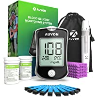 AUVON DS-W Blood Sugar Kit (No Coding Required), High-Tech Diabetes Blood Glucose Meter with 150 Test Strips, 50 30G…