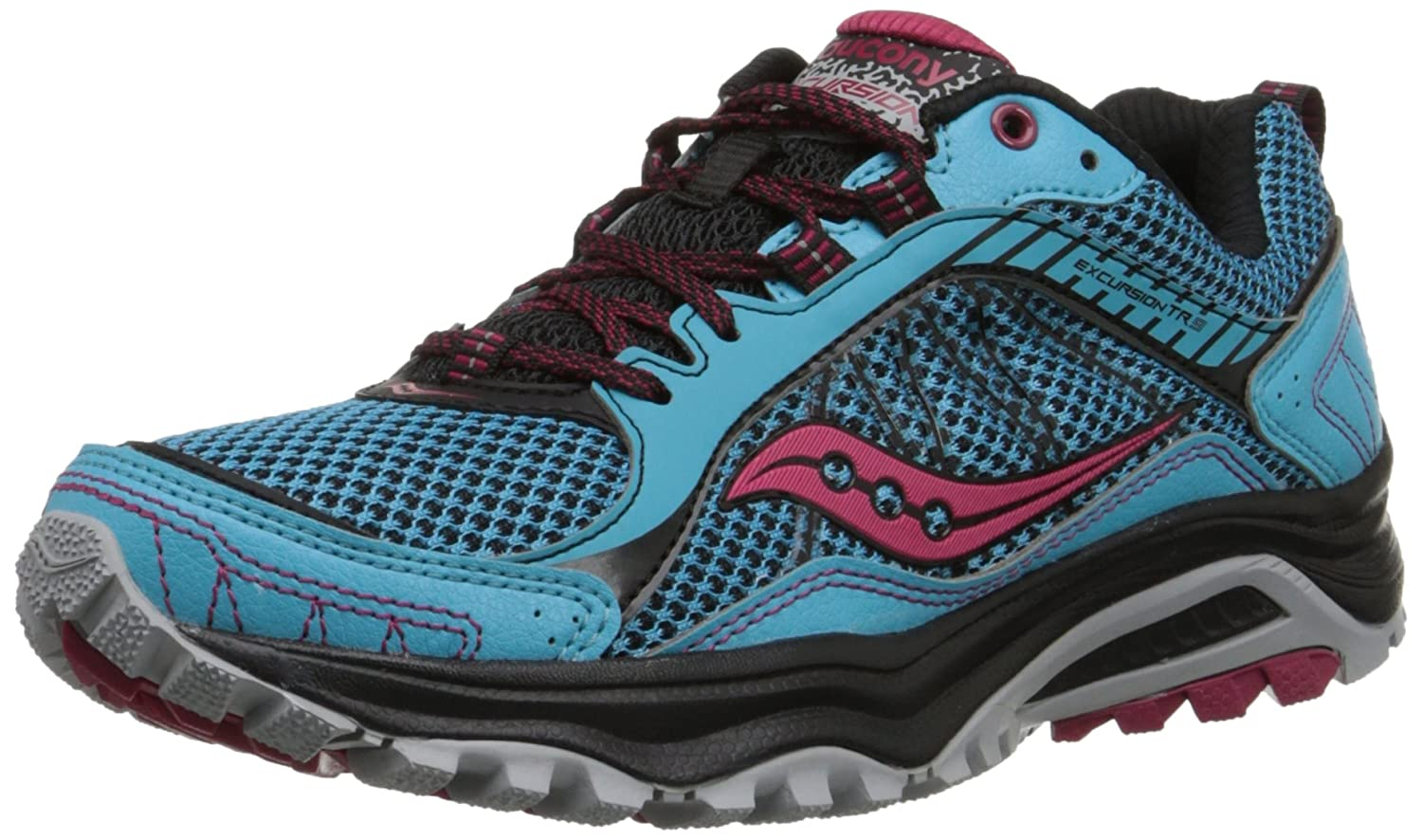 Saucony Women's Grid Excursion TR9 Trail Running Shoe B00RMCOE0G 6 B(M) US|Blue/Black/Red