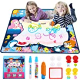 """Jionchery Water Doodle Mat, Ocean Water Doodle Drawing Mat Kids Magic Painting Board with 7 Rainbow Colors Educational Travel Toy Gift for Toddler Boy Girl Age 2 3 4 5+ Years Old (31.5"""" x 25.5"""")"""