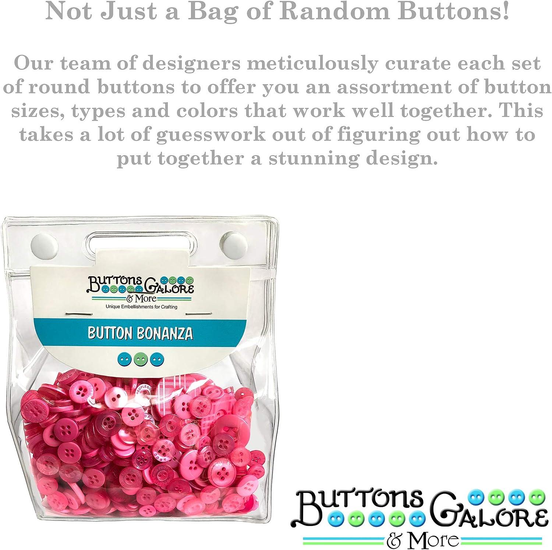 0.6 Buttons Galore Brilliant Pink Multi-Colour