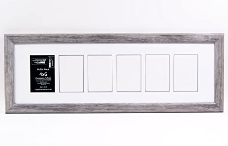 Amazon.com: 6 Opening Glass Face Driftwood Like Picture Frame to ...
