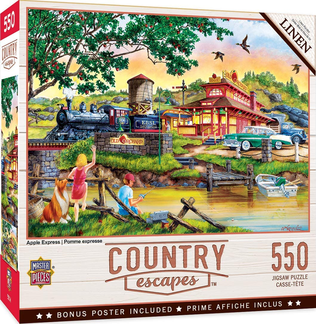 MasterPieces Country Escapes - Apple Express 550pc Puzzle, Assorted