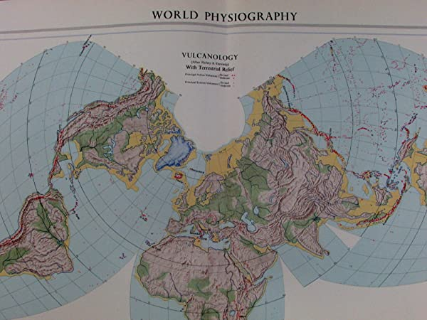 Amazon world physiography earthquakes volcanoes seismology world physiography earthquakes volcanoes seismology epicenters 1959 vintage map gumiabroncs Images