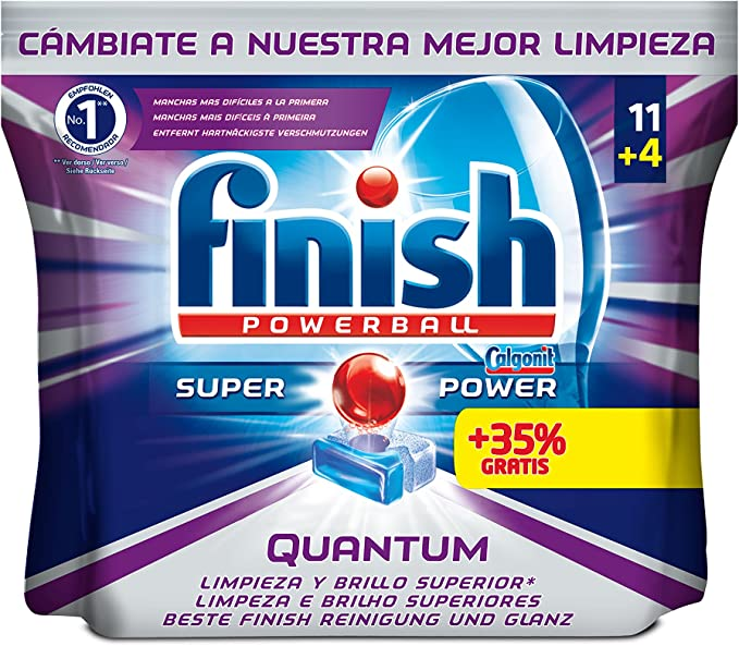 Finish Quantum Regular Pastillas para Lavavajillas - 15 pastillas ...