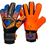 Renegade GK Vortex Goalie Gloves (Sizes 6-11, 4 Cuts, Lvl 3) - Amazing All-Around Goalkeeper Glove, Exceptional Value - German Hyper Grip Palms & 6D Super Mesh - 30 Day Guarantee