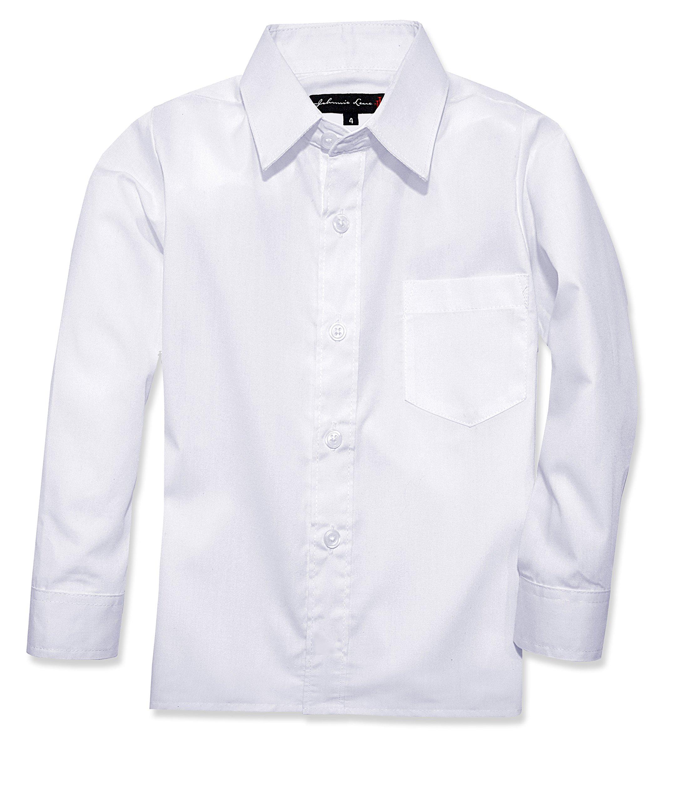 Johnnie Lene Boy's Long Sleeves Dress Shirt from Baby to Teen JJL32 (4, White)