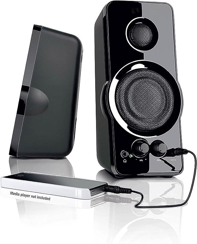 BlackWeb 9.9 mm aux imput MULTI-MEDIA PC SPEAKERS MP9 input Bass Power