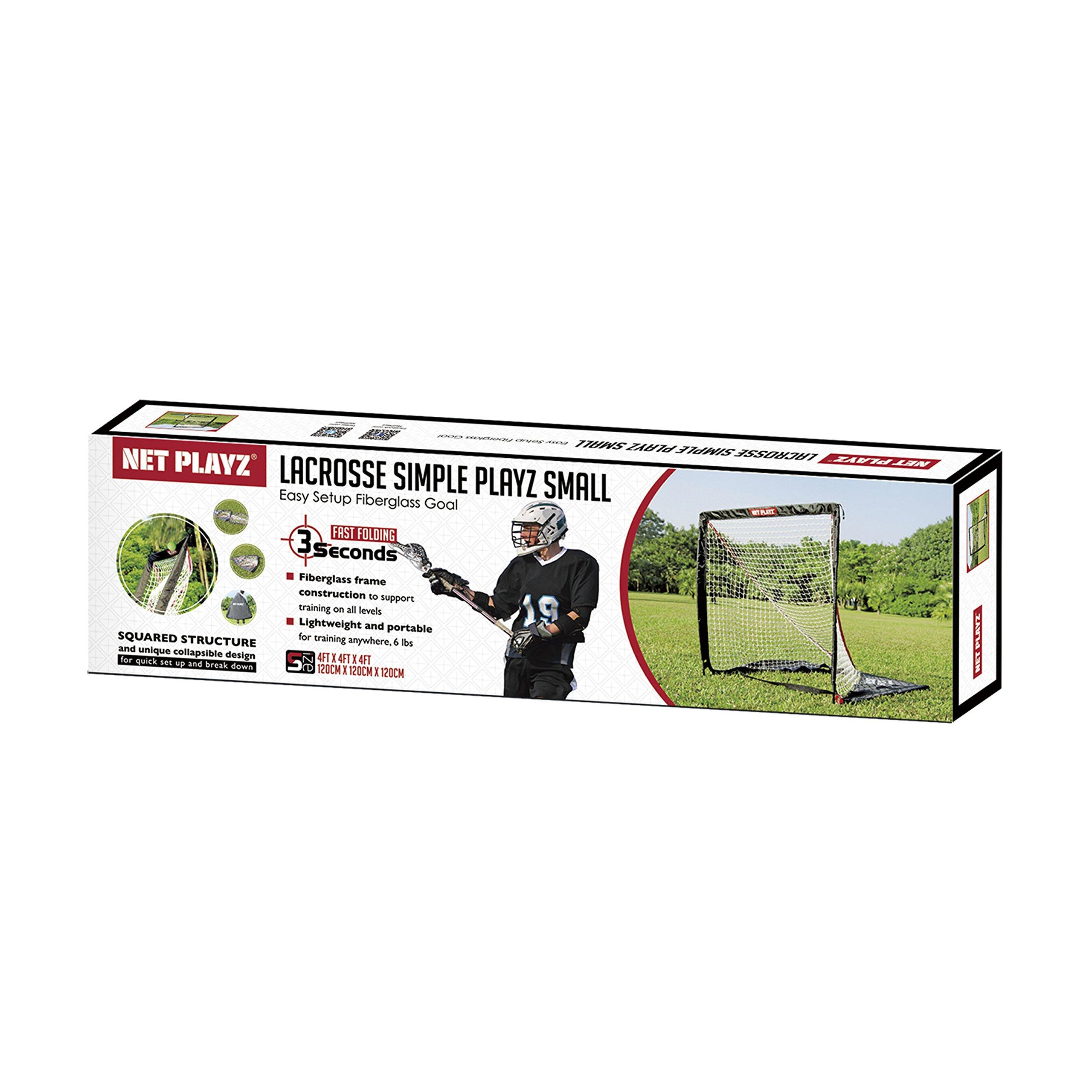 NET PLAYZ 4 x 4 x 4 Feet Lacrosse Goal Fast Install, Fiberglass Frme, Lightweight, Foldable, Portable, Carry bag Included by NET PLAYZ (Image #6)