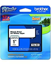 Brother TZE251 Genuine P-Touch Tape 24mm (Black on White)