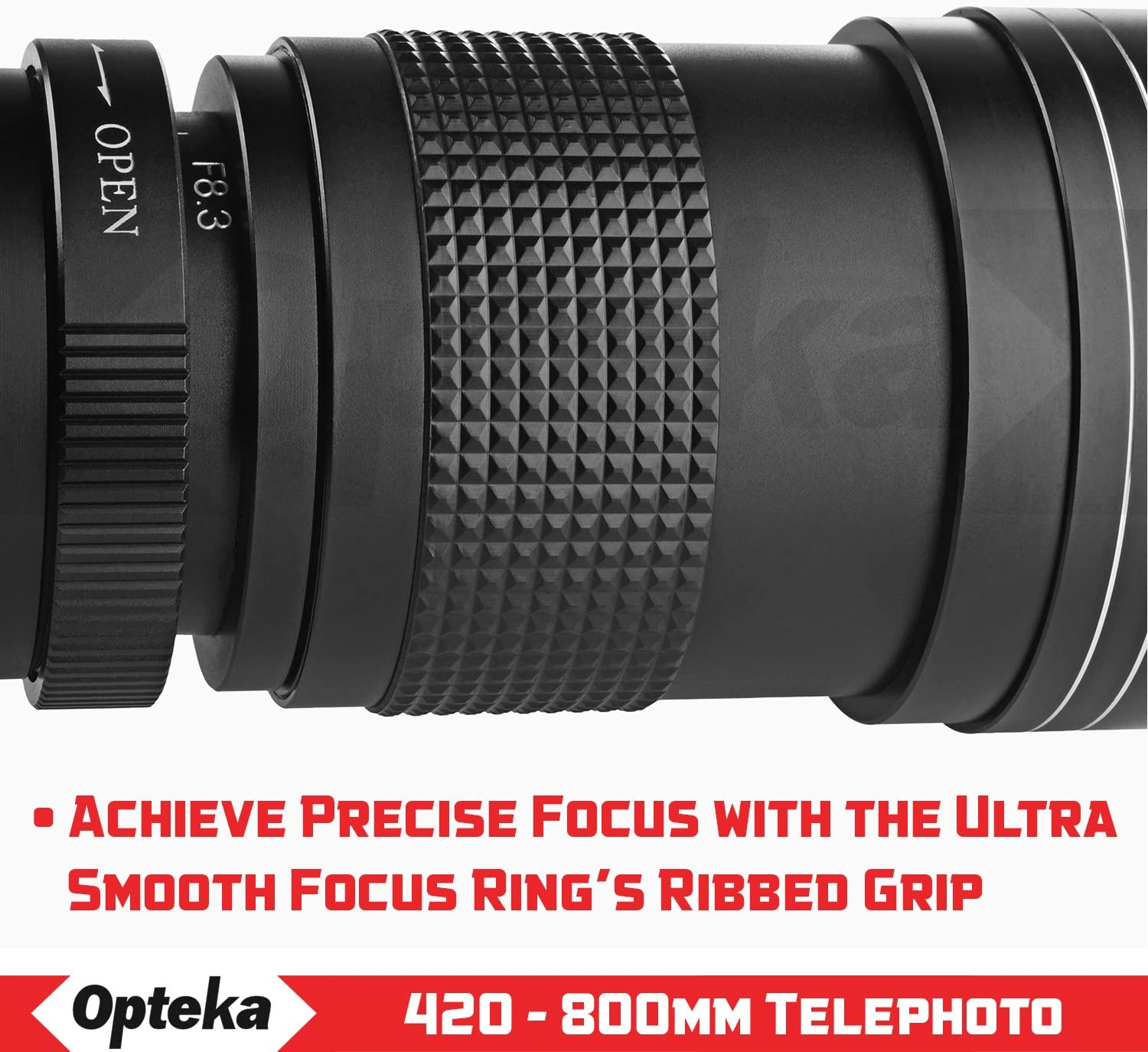 T3 T20 f//8.3 HD Telephoto Zoom Lens for Fuji Fujifilm X-Mount X-Pro3 T1 Opteka 420-800mm E3 T30 T10 E2 and T100 Digital Cameras w// 2X- 840-1600mm H1 A3 A2 T2 A5 A1 A7 Pro2