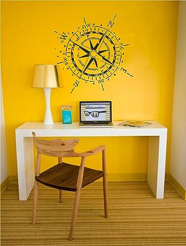 Amazon.com: Compass Rose Wall Decal | Beautiful vintage nautical ...