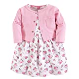 Luvable Friends Baby Girls Dress and Cardigan