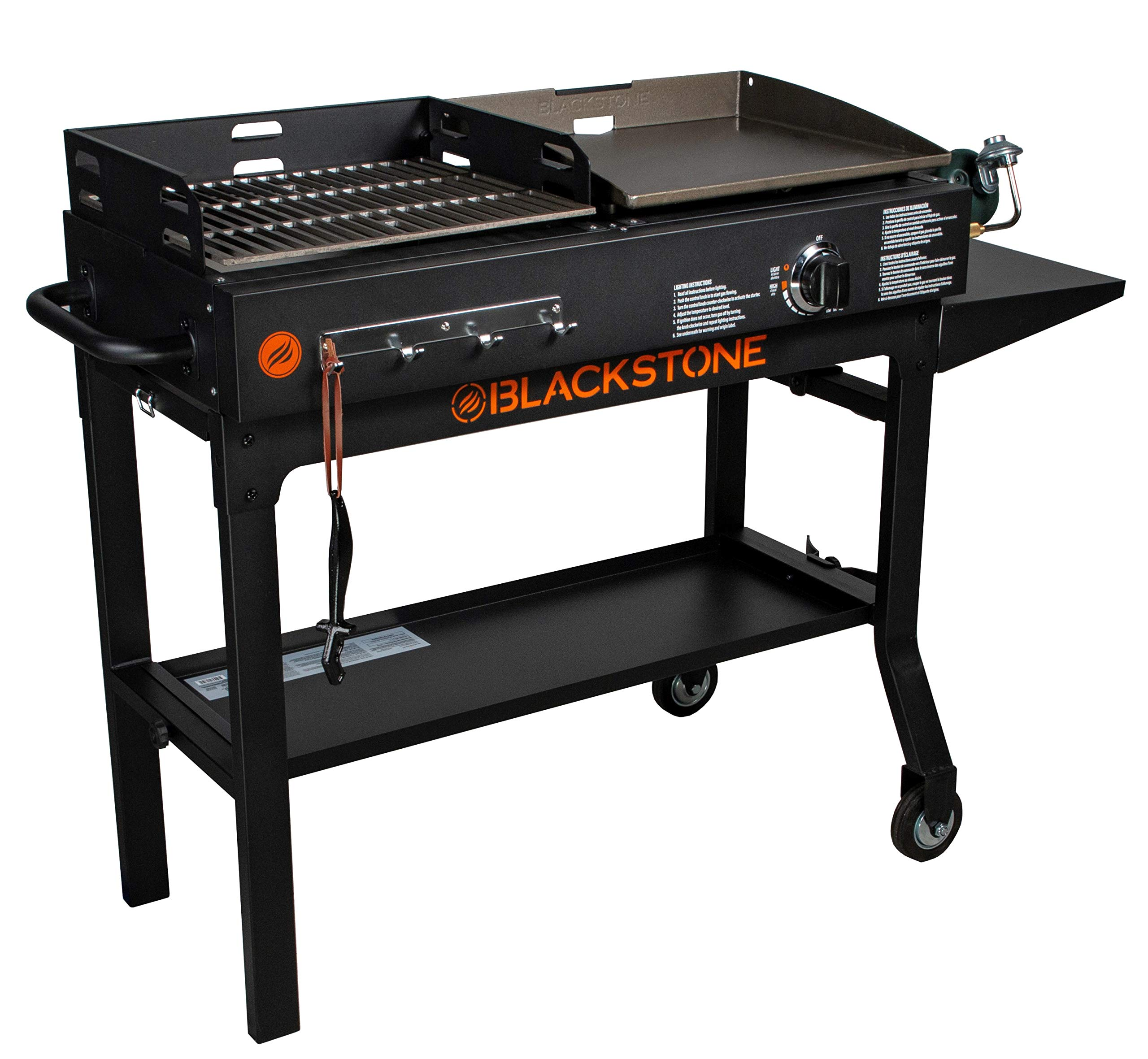 BSTONE Easy Assemble Care, Store and Use Tough Durable Ever Reliable Blackstone Griddle & Charcoal Grill Combo 1819 - Serve Up Really Tasty Meals with That Distinct Grilled to Perfection Flavor