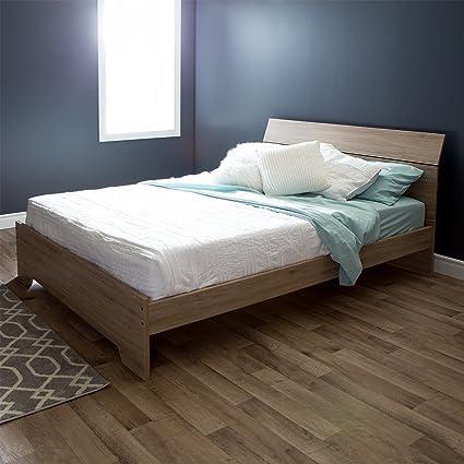 Perfect South Shore Vito Complete Queen Bed, 60u0026quot;, Rustic Oak