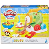 Play-Doh - Kitchen Creations - Noodle Makin' Mania inc 5 Tubs of Dough & Acc - Creative Kids Toys - Ages 3+