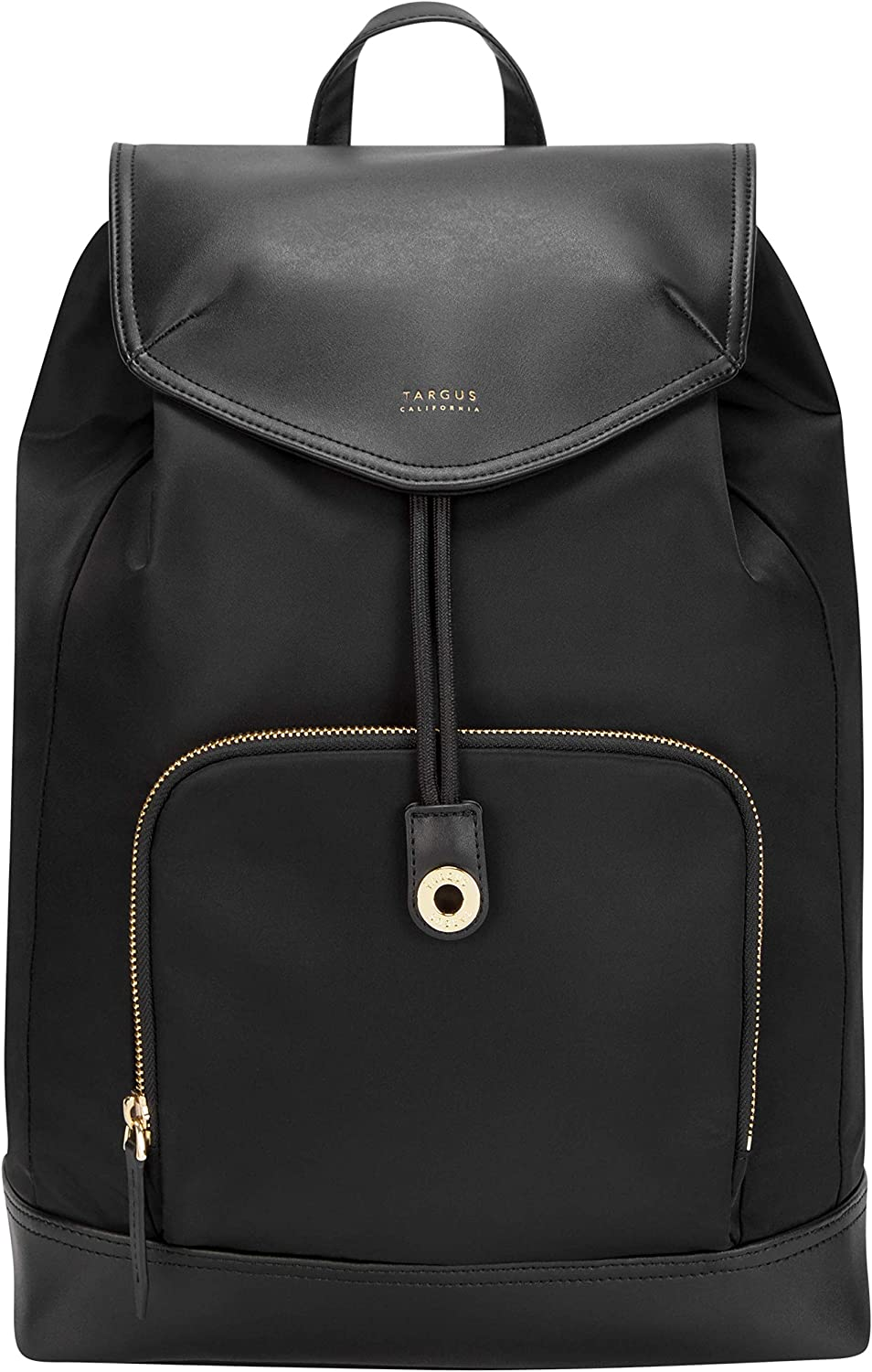 Targus Newport Drawstring Travel and Commute Backpack with Protective Storage fit up to 15-Inch Laptop, Black (TSB964GL)