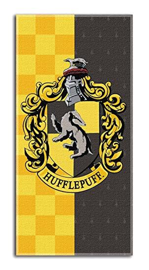 "Harry Potter crestas casa Toalla de Playa de 30"" x 60""- Hufflepuff"
