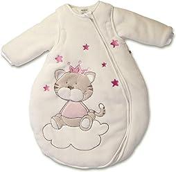 Jacky Mädchen Winter Schlafsack mit Abnehmbaren Ärmeln, Beige/Rosa, 74/80, 350006
