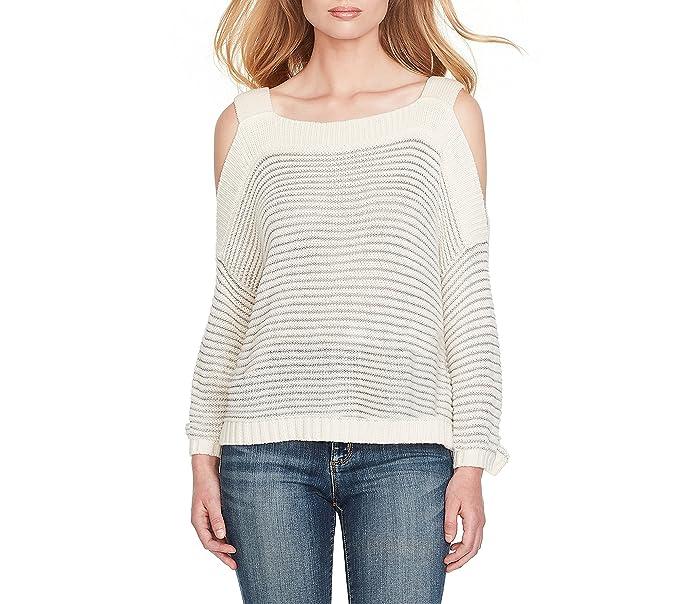 b952e6f7b850d Jessica Simpson Karafina Cold-Shoulder Sweater Gardenia Large at ...