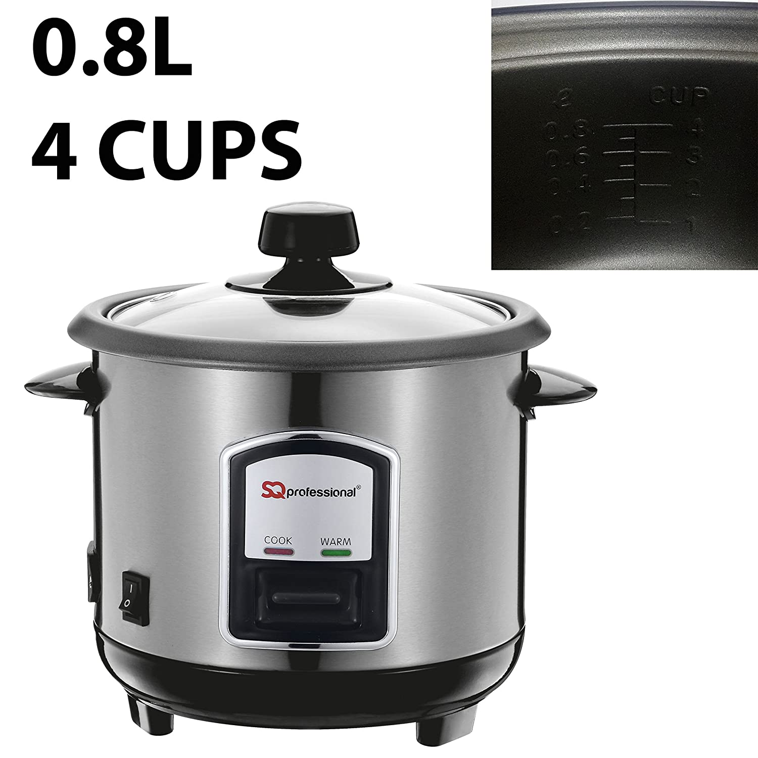 SQ Professional Acciaio inossidabile Rice Cooker 0.8L 350W Argento Others