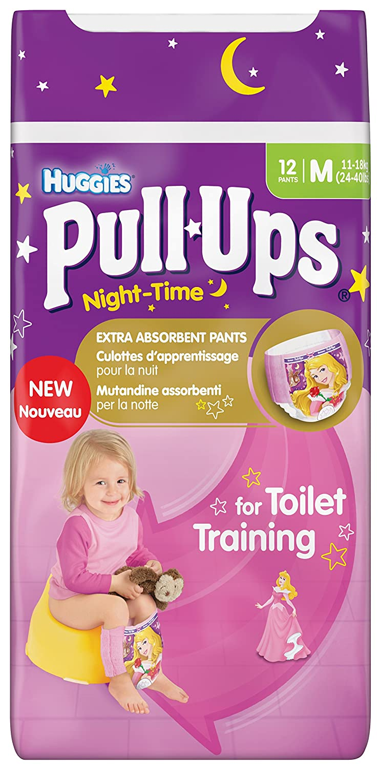 Huggies Night-Time Pull-Ups Disney Princess Design Size 5 (24-50 lbs/11-18 kg) Nappies - 3 x Packs of 12 (36 Pants) BabyLand 2919571