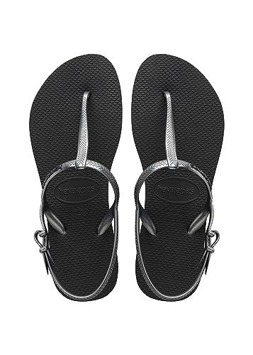 cec2f513864 Havaianas Women's Freedom SL Flip Flop Sandals, Around Ankle Straps, Roman  Sandal,Black
