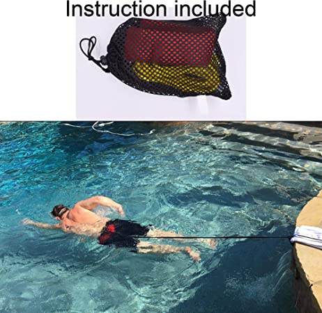 Excras Swimming Belt Anti-Blood System Trainer Swimming Beginner Training Aid Aquatic Resistance Belt Swimming Training Belt Swim Ankle Straps 1 Pair