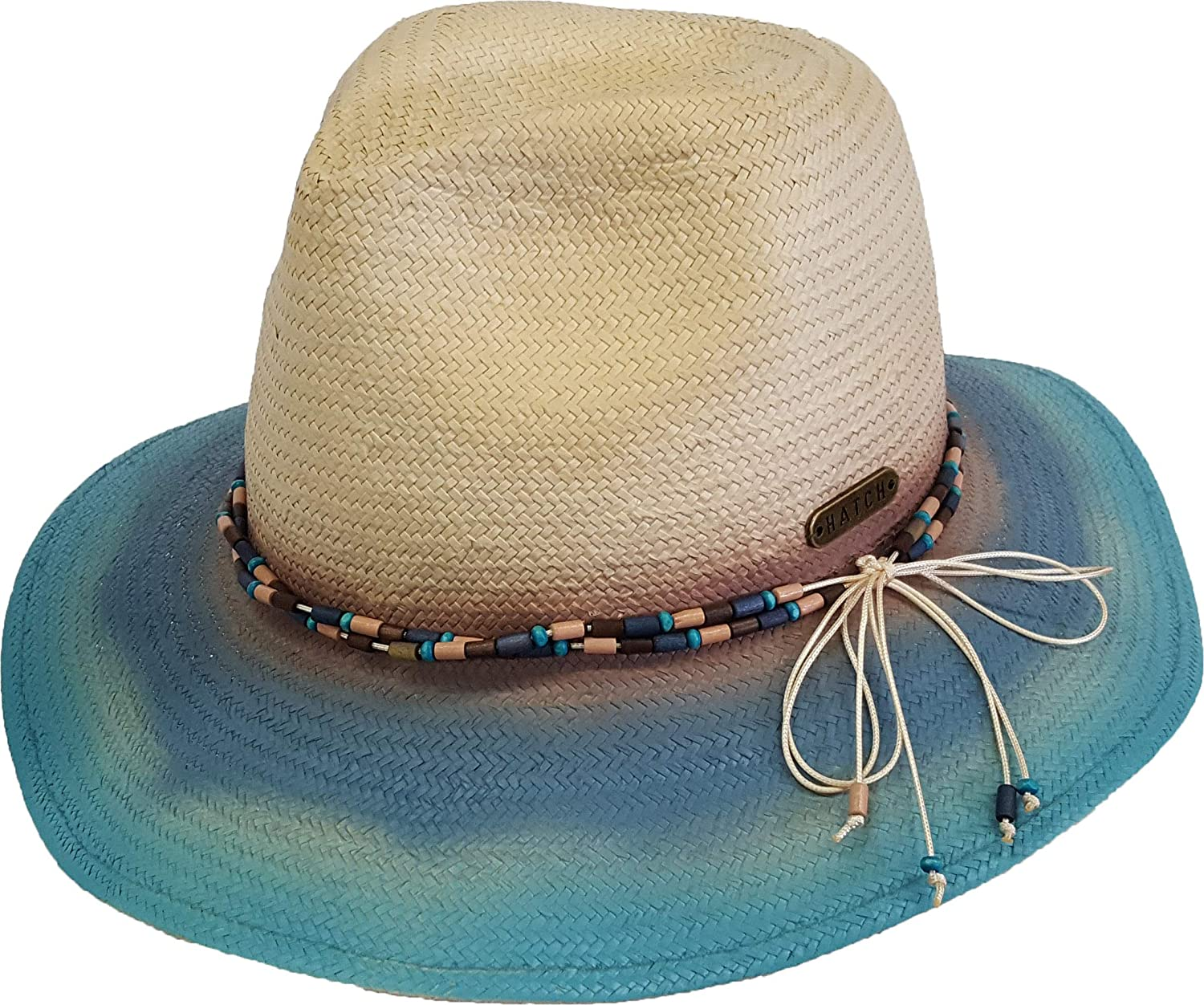 Women s Hand Painted Straw Cowboy Hat with Western Style Belting  (Natural Blue) at Amazon Women s Clothing store  7ef4f605990