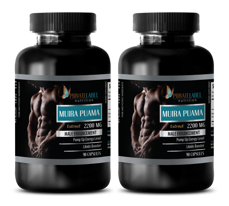 pills for men to last longer - MUIRA PUAMA EXTRACT 2200Mg - MALE ENHANCEMENT - brain memory - 2 Bottles (180 Capsules)