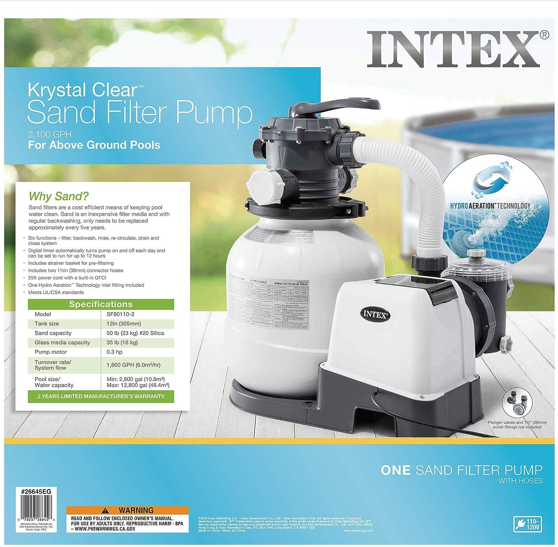Amazon.com: Intex 26645EG - Filtro de arena, 12.0 in, color ...