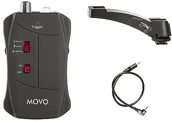 Movo LC200-C1 disparador remoto inalámbrico para sonido, movimiento y relámpagos para cámaras DSLR